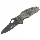 Stainless Steel Manual-Release Folding Knife with Clip - Color Assorted (6.5CM-Blade)