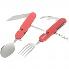 Compact Portable Stainless Steel Spoon Fork Cutlery Tableware - Color Assorted