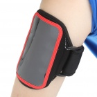 Sporty Nylon Armband for HTC Desire HD/HD2/EVO 4G - Black + Red