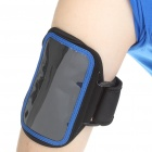 Sporty Nylon Armband for HTC Desire HD/HD2/EVO 4G - Black + Blue