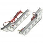 3.5W 12000MCD 6000K White Light 12-LED Daytime Running Lamps for Car (Pair/DC 12V)