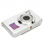 "5MP CMOS Compact Digital Video Camera w/ 4X Digital Zoom/SD Slot - Silver (2.7"" TFT LCD)"