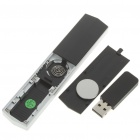 USB RF Wireless Presenter with Red Laser Pointer - Black (1 x CR2032)