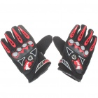 Stylish Full-Finger Racing Gloves - Black (Size L/Pair)