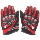 Stylish Full-Finger Racing Gloves - Black + Red (Size L/Pair)
