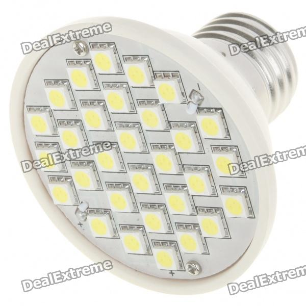 E27 7000K 4.5W 360-Lumen 30x5050 SMD LED White Light Bulb (AC 220V) видеорегистратор playme zeta