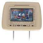 "Car Headrest 7"" LCD DVD Media Player with FM/TV/IR/SD/USB"