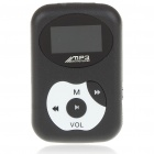"1.0"" LCD USB Rechargeable MP3 Player with TF Slot/Loudspeaker/Clip - Black"
