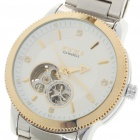 Stainless Steel Mechanical Wrist Watch - Silver + White + Golden