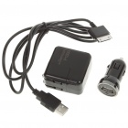 AC/Car Power Adapters + USB Cable Set for Samsung P1000