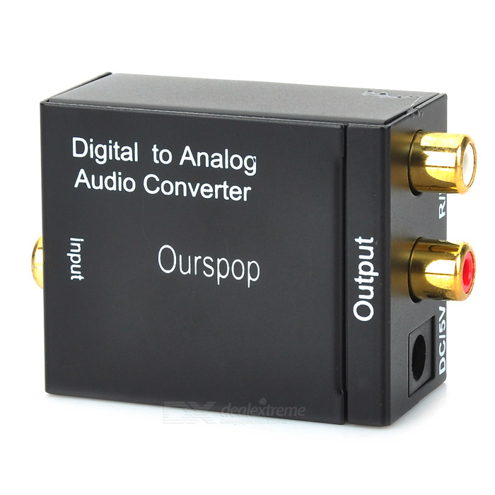 OURSPOP Digital Toslink coaxial a L / R Audio Converter analógico