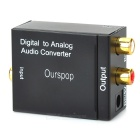 Digital Toslink Coaxial to L/R Analog Audio Converter