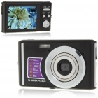 5MP CMOS Compact Digital Video Camera w/ 4X Digital Zoom/SD Slot - Black (2.7
