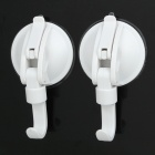 Suction Cups Hooks Lock for Bathroom/Kitchen - White (Pair)