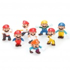 Cute Super Mario PVC Anime Figures (8-Figure Set)