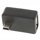 USB Female to Mini USB Male Adapter Cable - Black
