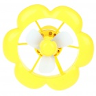 Flower Style USB/3xAAA Power Supply Cooling Fan + White 8-LED Light Lamp