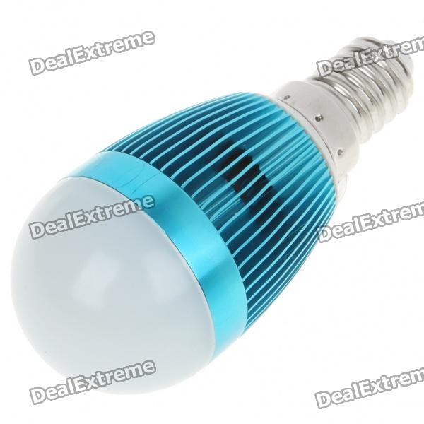 E14 3W 240-260LM 3000-3500K Warm White LED Light Lamp Bulbs - Blue (85~245V) mr16 3w 3 led 260 lumen 3500k warm white light bulb 12v