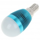E14 3W 240-260LM 3000-3500K Warm White LED Light Lamp Bulbs - Blue (85~245V)