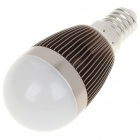 E14 3W 240-260LM 3000-3500K Warm White LED Light Lamp Bulbs - Dark Silver (85~245V)