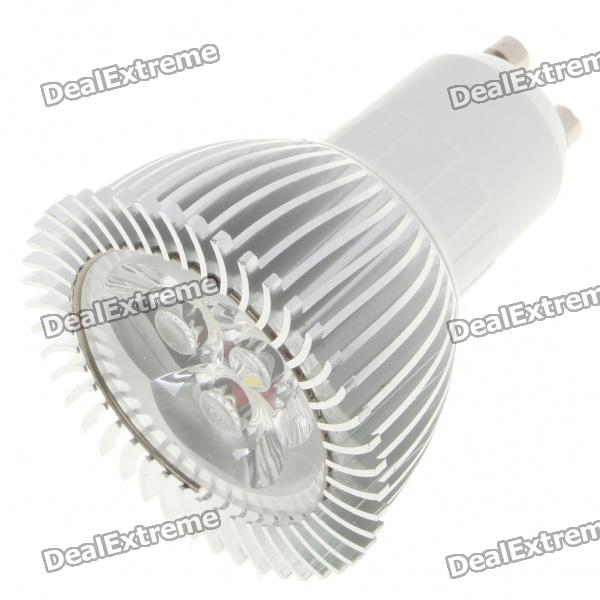GU10 3W 260LM 6500K Cold White Light 3-LED Cup Bulb (85~245V)
