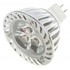 MR16 3W 240-260LM 3000-3500K Warm White 3-LED Light Lamp Bulbs (12V)