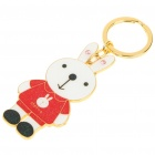 Cute Rabbit Style Keychain - Red + White + Gold