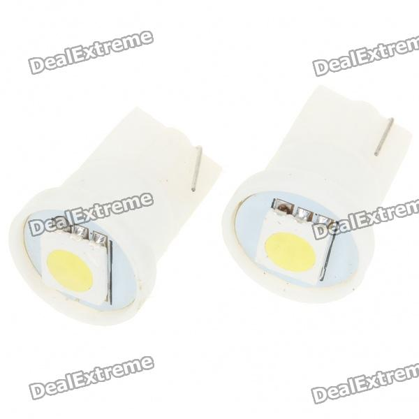 T10 0.5W 6000K 10-Lumen 5050 SMD LED Car White Light Bulbs (Pair/DC 12V) t10 1w 6000k 20 lumen 2x 5050 smd led car white light bulbs pair dc 12v
