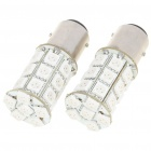 BAY15D 5.4W 270LM 27x5050 SMD LED Car Freno / Torneado / Revertir Bombillas Rojas - Par (DC 12V)