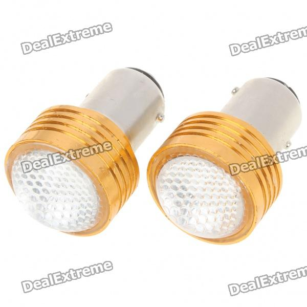 S25 2W 180LM Red LED Car Brake/Turning/Reverse Light Bulbs - Pair (DC 12V) s25 2w 180lm red led car brake turning reverse light bulbs pair dc 12v