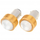 S25 2W 180LM Red LED Car Brake/Turning/Reverse Light Bulbs - Pair (DC 12V)