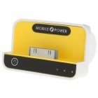 1100mAh USB Rechargeable Emergency Power Charger Battery Pack for iPhone 4/3G/iPad/iPad 2 - Yellow