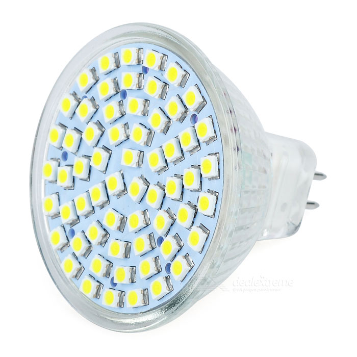 MR16 4W 240LM 6500K Cold White Light 60*SMD LED Cup Bulb (12V)