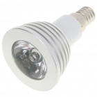 E14 3W Multicolored LED Light Bulb with Remote Controller (1 x CR2025/ 85~265V)