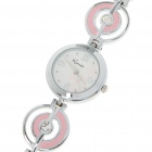 Stylish Stainless Steel Quartz Wrist Watch - Pink + Silver (1 x LR626)