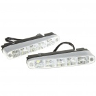 10W 7000K 900-Lumen 5-LED White Light Daytime Running Lamps for Car (Pair/DC 12~24V)