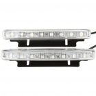 5.5W 6700K 150-Lumen 12000MCD 8-LED White Light Daytime Running Lamps for Car (Pair/DC 12~24V)