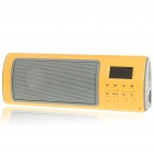 "Fashion 1.1"" LCD USB Rechargeable Music Speaker with USB/SD/FM - Yellow"