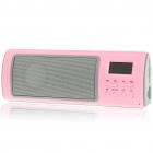 "Fashion 1.1"" LCD USB Rechargeable Music Speaker with USB/SD/FM - Pink"