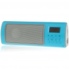 "Fashion 1.1"" LCD USB Rechargeable Music Speaker with USB/SD/FM - Blue"