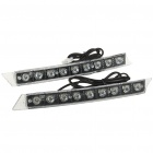 6.2W 6700K 220-Lumen 12000MCD 9-LED White Light Daytime Running Lamps for Car (Pair/DC 12V)