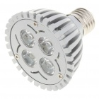 E27 4W 6500K 360-Lumen 4-LED White Light Bulb (85 ~ 240V)