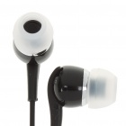 Stereo Earphone with Microphone for Samsung P1000 - Black (3.5MM-Jack)