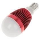E14 6500K 3W 260-Lumen 3-LED White Light Bulb (85~245V) - Red