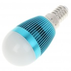E14 6500K 3W 260-Lumen 3-LED White Light Bulb (85~245V) - Blue