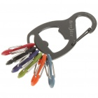Nite Ize S-Biner KeyRack Keychain with Bottle Opener