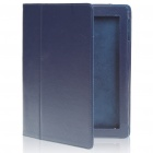 Protective PU Leather Case for Ipad 2 - Dark Blue
