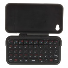 49-Key Mini Rechargeable Bluetooth V2.0 QWERTY Keyboard with Protective Case for Iphone 4
