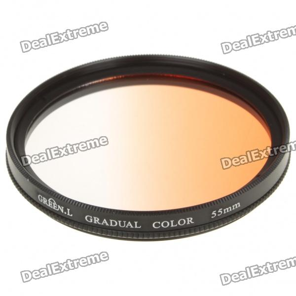 Optical Glass UV Camera Lens Filter - Gradual Orange (55mm) ручки waterman s0636930