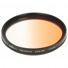 Optical Glass UV Camera Lens Filter - Gradual Orange (55mm)